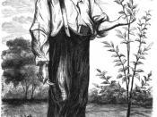 English: Drawing of Jonathan Chapman, aka Johnny Appleseed.