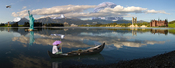 Photomontage - Composite of 16 different photos which have been digitally manipulated to give the impression that it is a real landscape. Software used: Adobe Photoshop