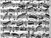 Sonata for single violin #1 in G minor BWV 1001, Johann Sebastian Bach, front page of the autograph