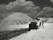 Snow blower in Rocky Mountain National Park, 1933