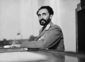 Addis Ababa, Ethiopia. Haile Selassie, Emperor of Ethiopia, in his study at the palace CALL NUMBER: LC-USW33- 019078-C