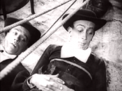 Jaime Miravitilles and Salvador Dalí as the confused priests.