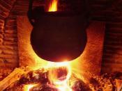 This fire heats the kitchen, and the magic caldron heats the hot water and two radiators : Ce feu chauffe la cuisine et le chaudron chauffe l'eau et deux radiateurs à l'étage