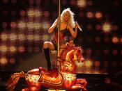 Christina Aguilera performing