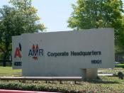 English: The sign indicating the headquarters of AMR Corporation, American Airlines, and American Eagle Airlines - The photograph faces away from the actual headquarters building Español: La sede del AMR Corporation, American Airlines, y American Eagle Ai
