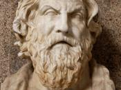 Antisthenes. Roman copy after a Hellenistic original.