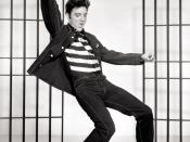 English: A photograph promoting the film Jailhouse Rock depicts singer Elvis Presley.