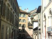Rue Colladon à Genève (Suisse)
