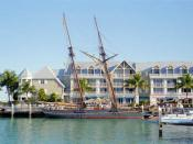 Replica of the slave ship Amistad docked at Key West