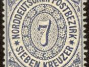 English: A postage stamp of the North German Confederation (Southern District) Русский: Почтовая марка Северогерманского союза Brezhoneg: Timbroù Kengevread Norzh Alamagn