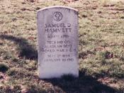 Grave of Samuel Dashiell Hammett, author of The Maltese Falcon and other works