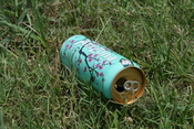 English: Empty can of Arizona Green Tea littering a field in Durham, North Carolina.