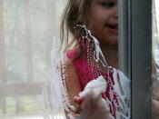 Maria helping wash the windows