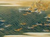 Traditional Whaling in Taiji, depicted in a maki-e in the Edo period
