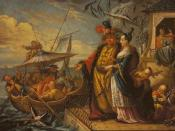 English: A_Chinese_Emperor_With_his_Concubines_Inspecting_his_Fantasy_Fishing_Fleet, by Jacques Vigouroux Duplessis