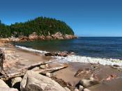 English: Cape Breton Highlands National Park, Cape Breton Island, Nova Scotia, Canada. Black Brook Beach. Français : Parc National des Hautes-Terres-du-Cap-Breton, Île du Cap-Breton, Nouvelle-Écosse, Canada. Plage de Black Brook.