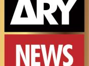 English: This is the logo of ARY News channel.