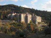 Bulgarian monastery Saint George the Zograf, Mount Athos (the
