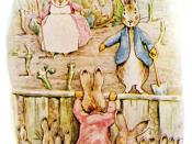 Illustration of Peter Rabbit from The Tale of the Flopsy Bunnies