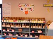 A typical classroom library (probably 3rd grade) at an American elementary school