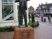A statue of Ralph Vaughan Williams in Dorking.
