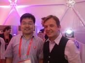 Chris Anderson and Me talked about the TED in China, Photo taken in TEDxSummit 2012 Doha