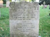 English: But she was shed 35 years before Looking at old gravestones raises far more questions that it answers. Here perhaps the first question relates to an explanation of the