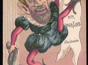 English: Cartoon of Charles Guiteau by Miriam Leslie