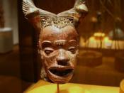 Mask, Boki peoples, middle Cross River region, Nigeria, Late 19th to early 20th century, Wood, paint, metal