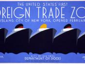 Poster for the City of New York Department of Docks, showing five ocean liners. Text: