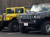 Vehicles by Hummer are among the most prominent and most commonly satirized gas-guzzlers.