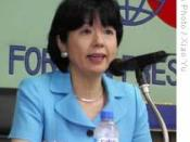 Hiroko Ota, Minister of State for Economic and Fiscal Policy of Japan