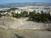 Modern picture of the Theatre of Dionysus in Athens, where many of Aeschylus's plays were performed