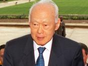 English: Senior Minister Lee Kuan Yew of Singapore, being escorted by United States Secretary of Defense Donald H. Rumsfeld through an honour cordon and into the Pentagon. They met to discuss bilateral security issues including the war on terrorism: see D