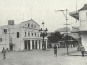 Port Louis Theatre in 1950s, Mauritius