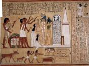 Priests of Anubis, The guide of the dead and the god of tombs and embalming, perform the