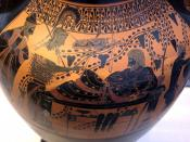 Heracles and Athena. Side B (black-figure) of Attic bilingual amphora, 520–510 BC. From Vulci.