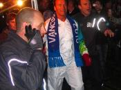Arnold Schwarzenegger & The Olympic Torch in Stanley Park, Vancouver, BC