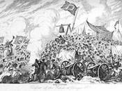 George Cruikshank ( 1792-1878.) Defense of the rebels at Vinegar Hill.