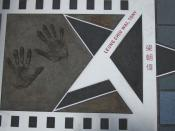 Leung's hand print and autograph at the Avenue of Stars in Hong Kong.