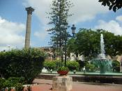 Tepic main plaza.
