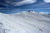 Ski slope in Rastkogel ski resort (Zillertal valley) Français : Piste de ski dans la station de Rastkogel (Zillertal, Tyrol, Autriche).