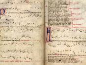 Facsimile of the Oxford version of the Agincourt Carol (15th century). Oxford, Bodleian Library, Manuscript Archives.