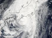 Typhoon Roke Approaching Japan