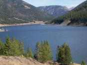 English: Quake Lake in Montana, USA by David Jolley 2005.