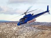 Eurocopter A350B3. This vehichle is used at the mt. Hotham ski fields as transport and for rescue purposes.
