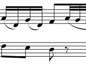 Start of second subject (D major) of Haydn's Sonata in G Major, Hob. XVI: G1, I, mm. 13–16 About this sound Play ( help · info ) .