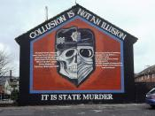 A mural in Belfast on collusion between the British security forces and loyalist paramilitaries