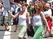 A lesbian couple married in San Francisco in 2004