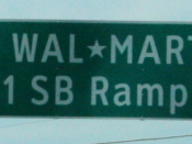 English: Street sign for Wal*Mart Drive, south of Gordon, Pennsylvania near I-81 (The sign, and addresses on this street are possibly protected under trademark law)